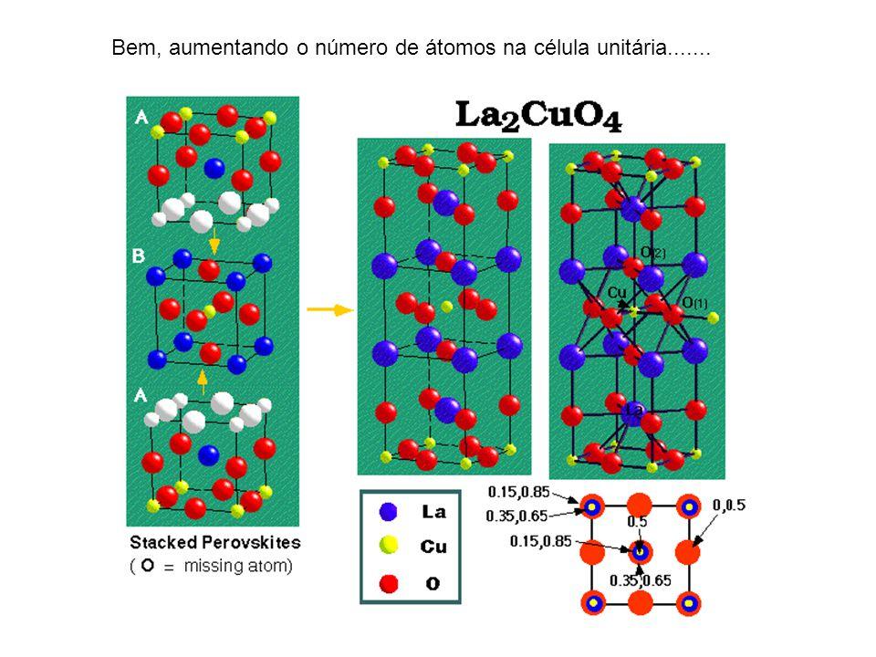 Bem, aumentando o número de átomos na célula unitária.......