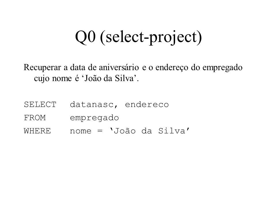 Q0 (select-project)