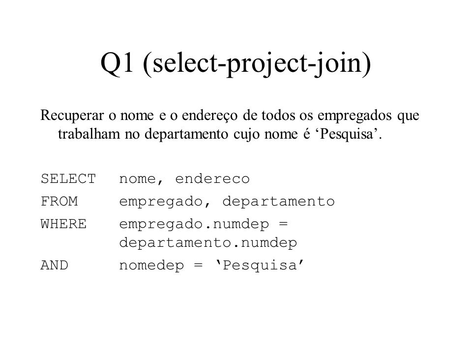 Q1 (select-project-join)