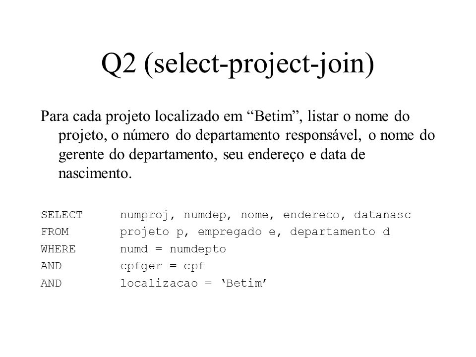 Q2 (select-project-join)