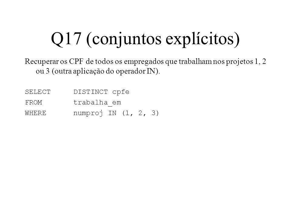 Q17 (conjuntos explícitos)