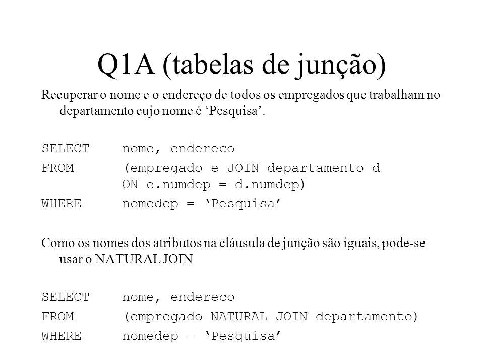 Q1A (tabelas de junção)