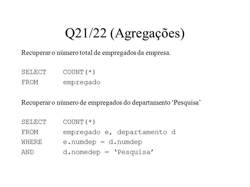 Q21/22 (Agregações)