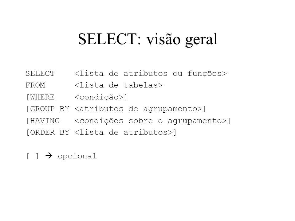 SELECT: visão geral
