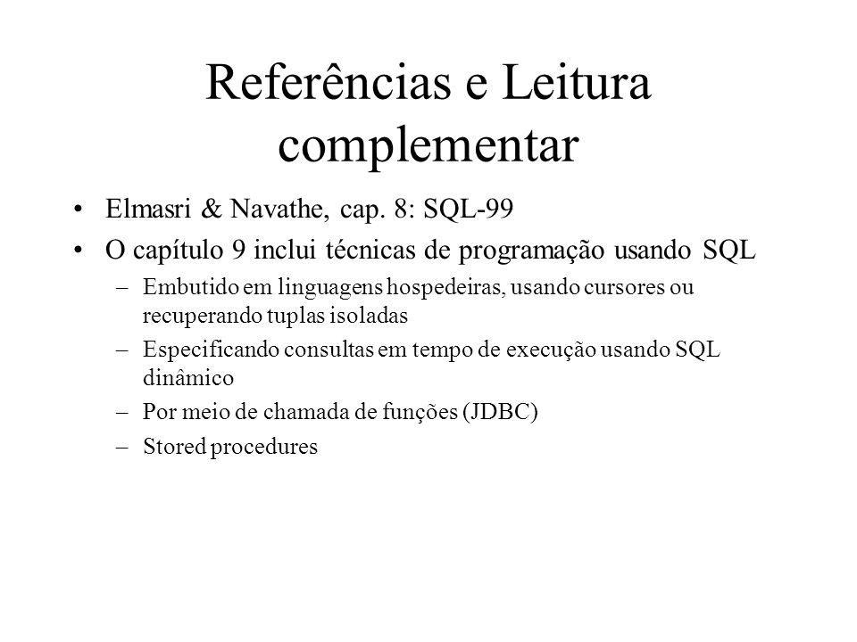 Referências e Leitura complementar
