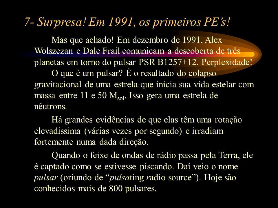 7- Surpresa! Em 1991, os primeiros PE's!