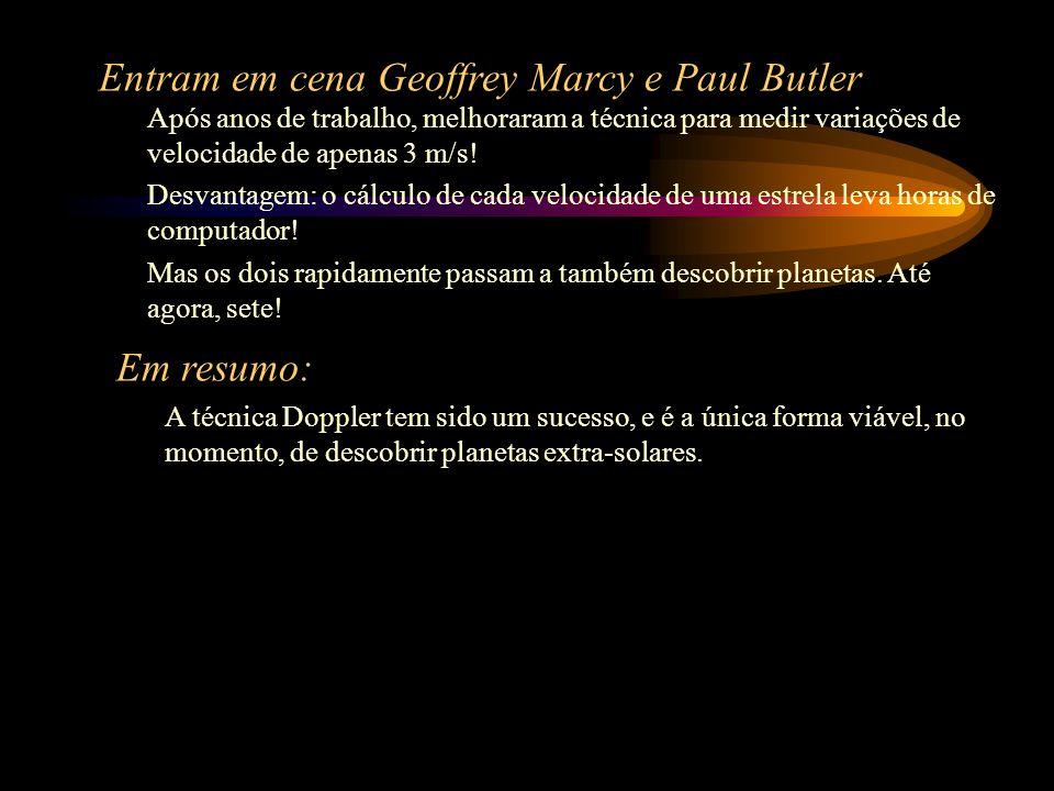 Entram em cena Geoffrey Marcy e Paul Butler