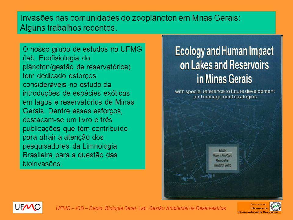 Invasões nas comunidades do zooplâncton em Mnas Gerais: