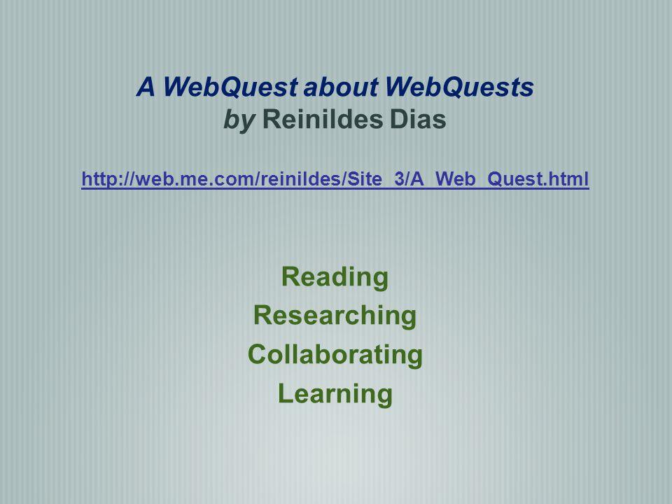 A WebQuest about WebQuests