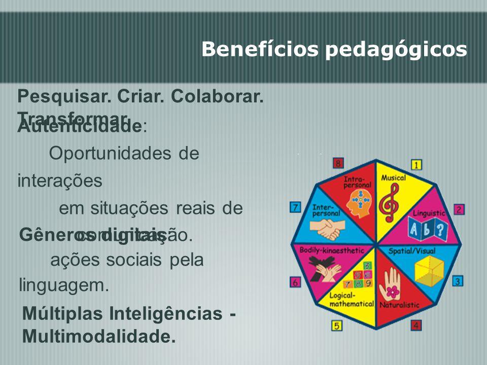 Benefícios pedagógicos