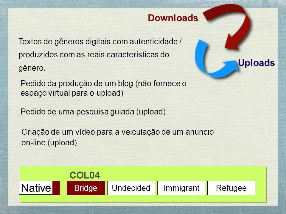 Native Downloads Uploads COL04