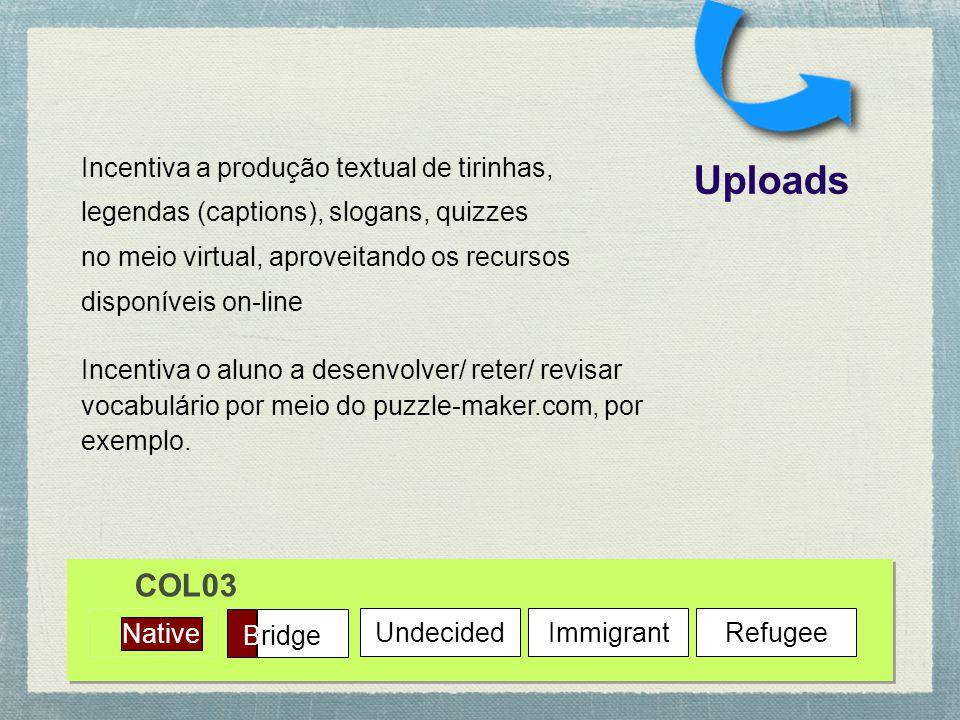 Uploads COL03 Incentiva a produção textual de tirinhas,