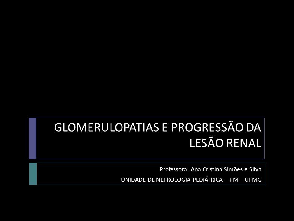 GLOMERULOPATIAS E PROGRESSÃO DA LESÃO RENAL