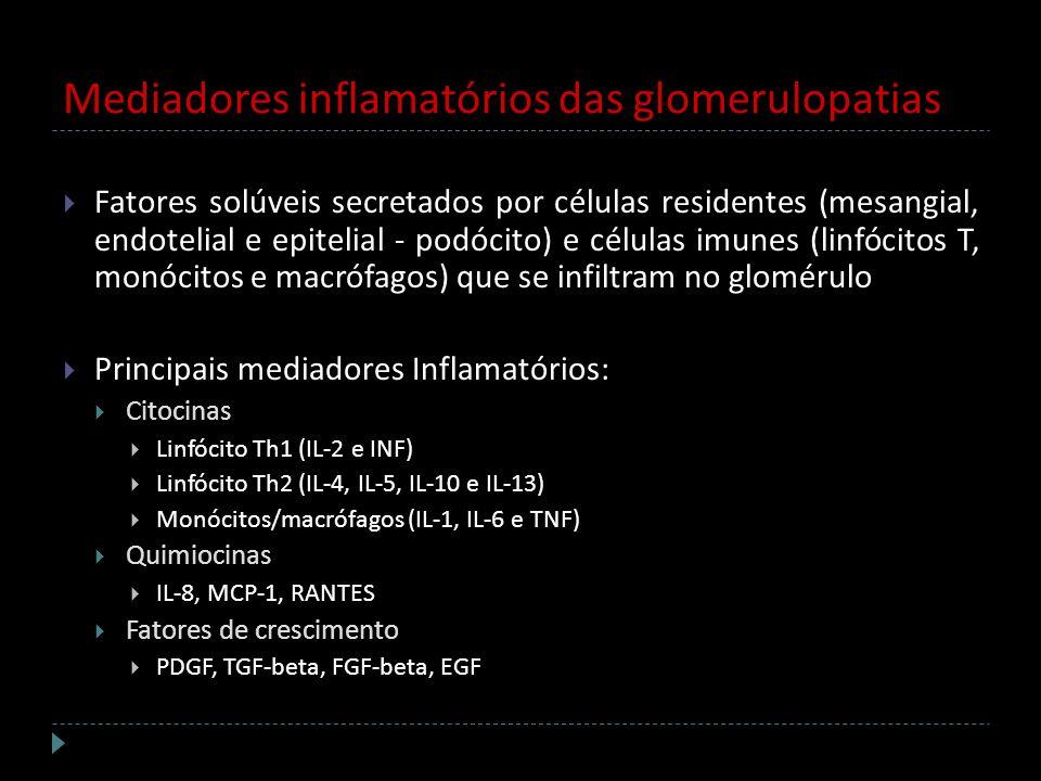 Mediadores inflamatórios das glomerulopatias