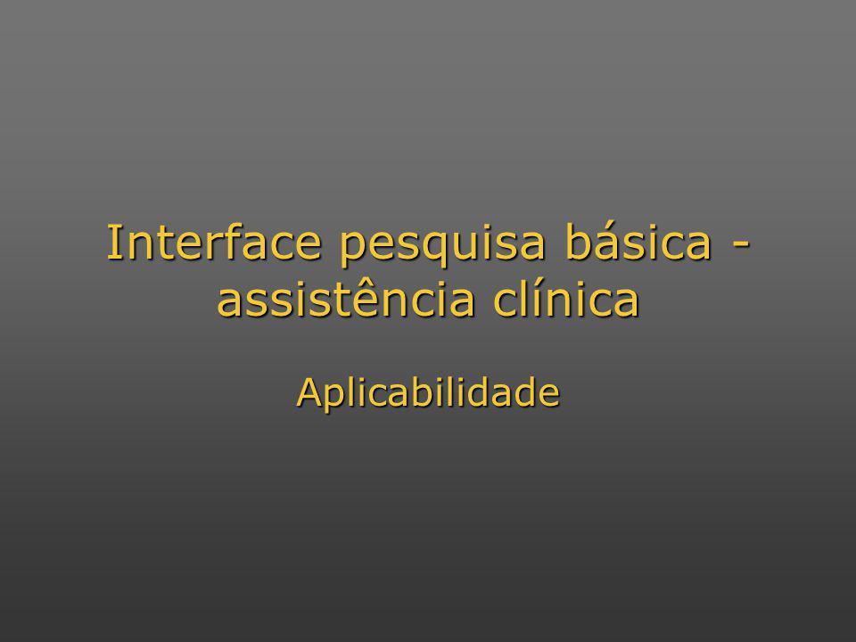 Interface pesquisa básica - assistência clínica