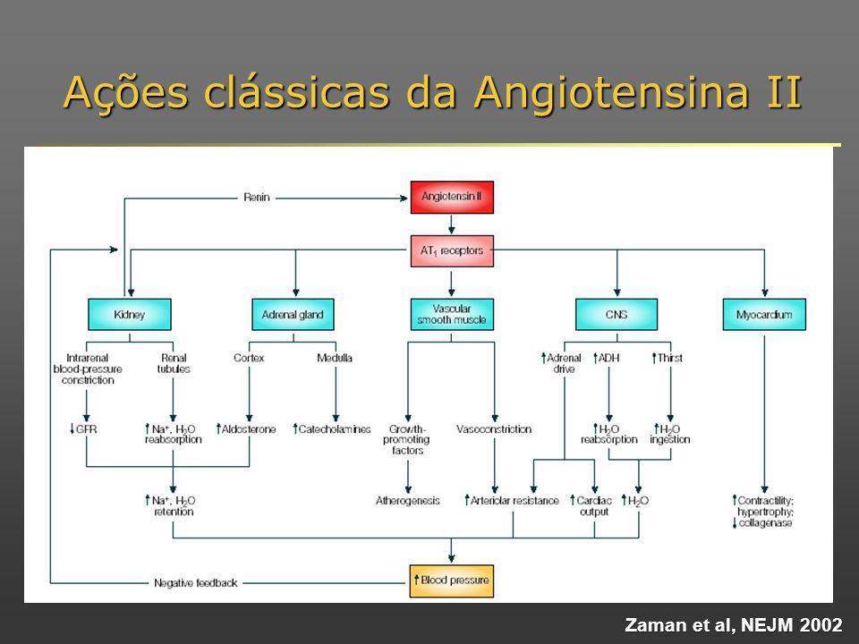 Ações clássicas da Angiotensina II