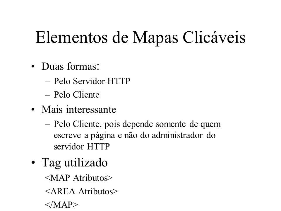 Elementos de Mapas Clicáveis