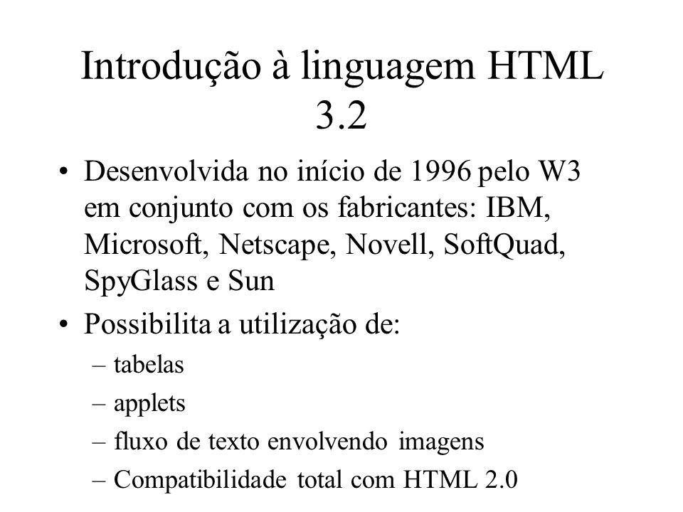 Introdução à linguagem HTML 3.2