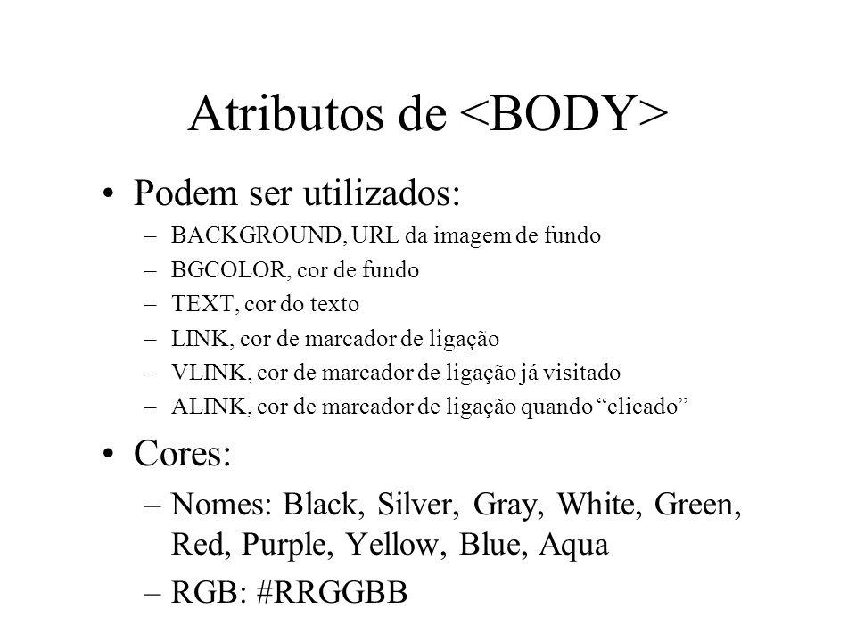 Atributos de <BODY>