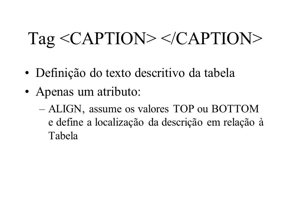 Tag <CAPTION> </CAPTION>