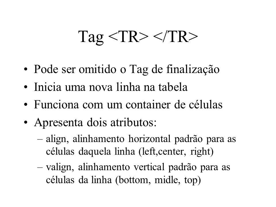 Tag <TR> </TR>