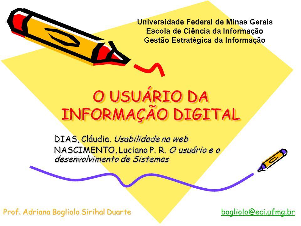 O USUÁRIO DA INFORMAÇÃO DIGITAL
