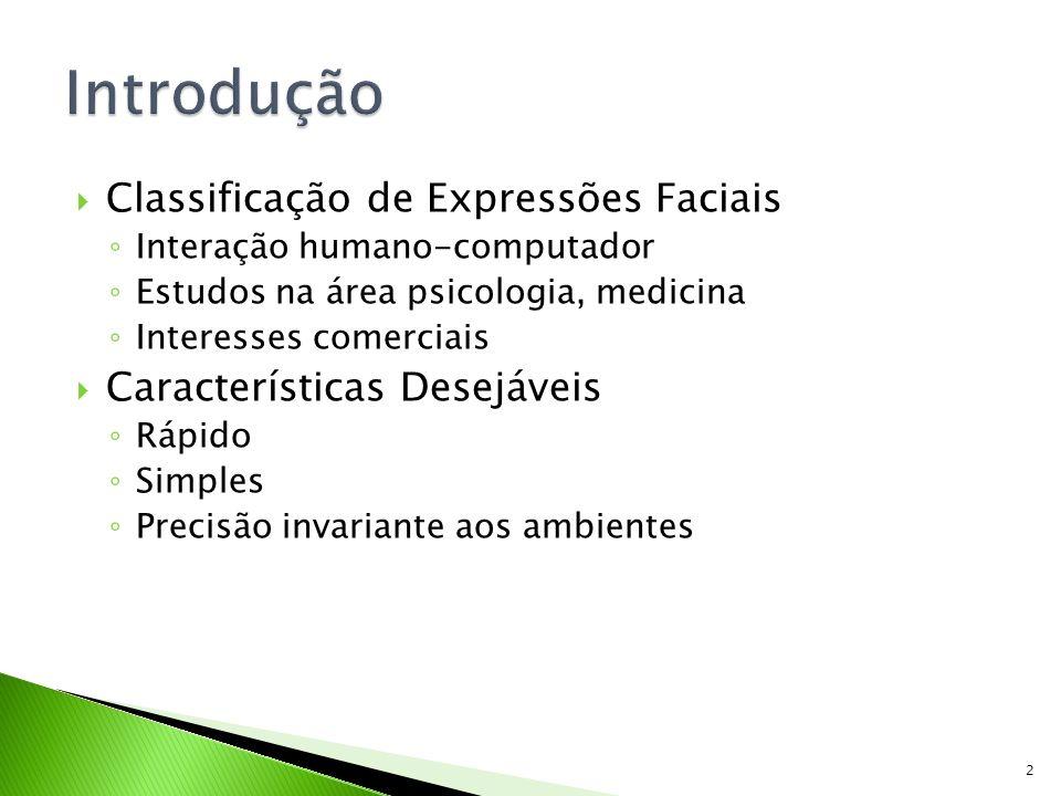 Introdução Classificação de Expressões Faciais