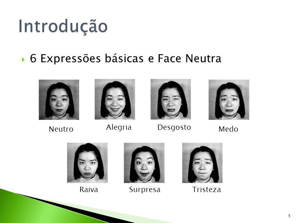 Introdução 6 Expressões básicas e Face Neutra Neutro Alegria Desgosto