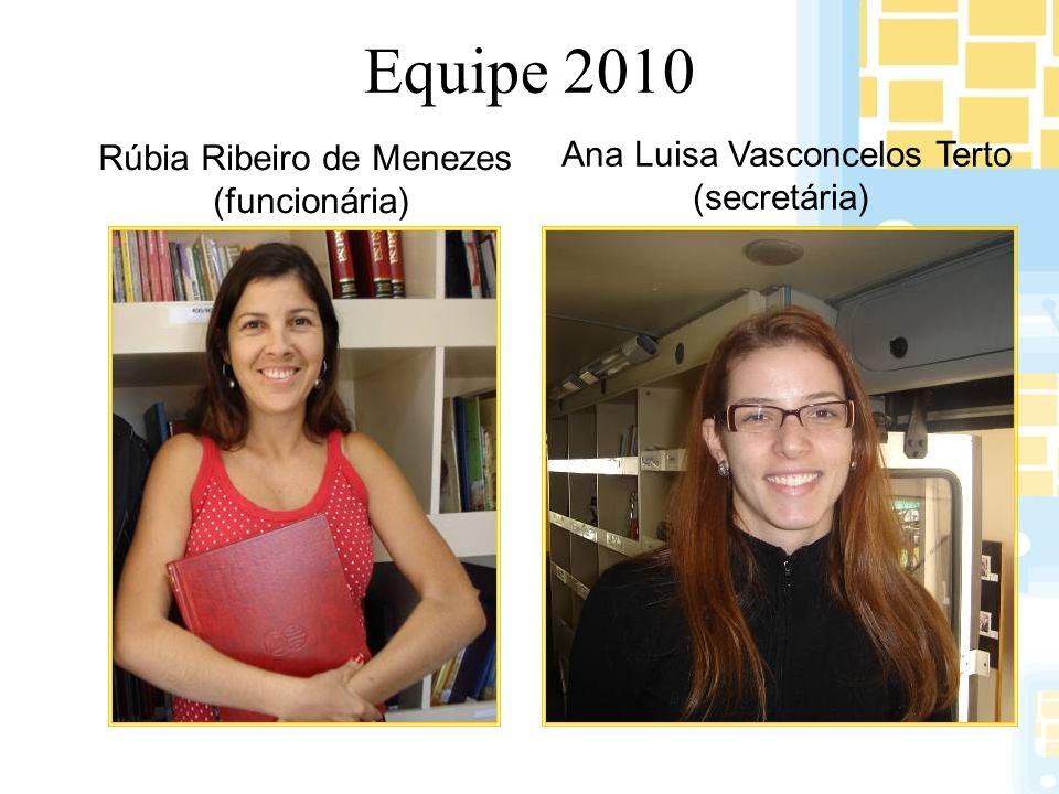 Equipe 2010 Ana Luisa Vasconcelos Terto Rúbia Ribeiro de Menezes