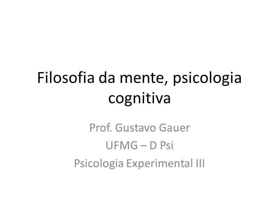 Filosofia da mente, psicologia cognitiva