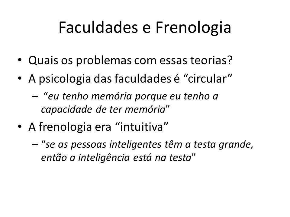 Faculdades e Frenologia