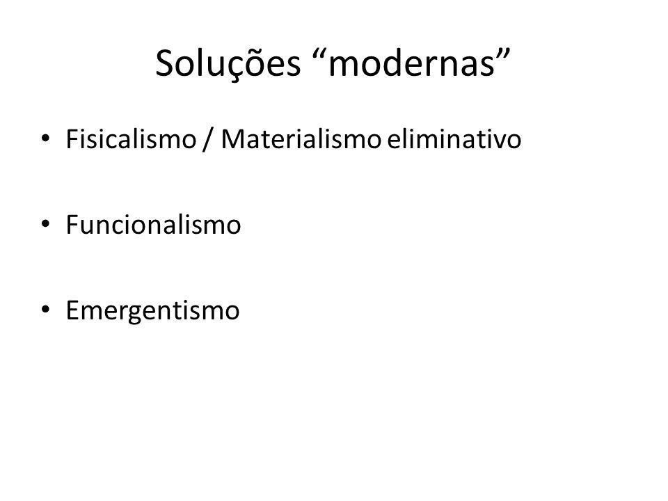 Soluções modernas Fisicalismo / Materialismo eliminativo