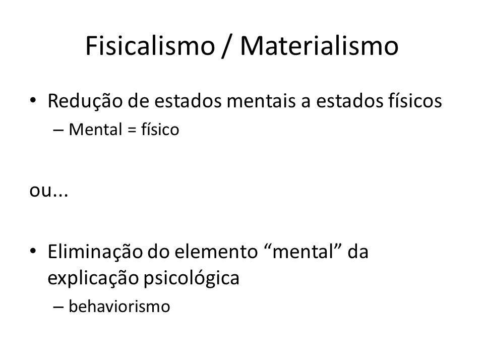 Fisicalismo / Materialismo