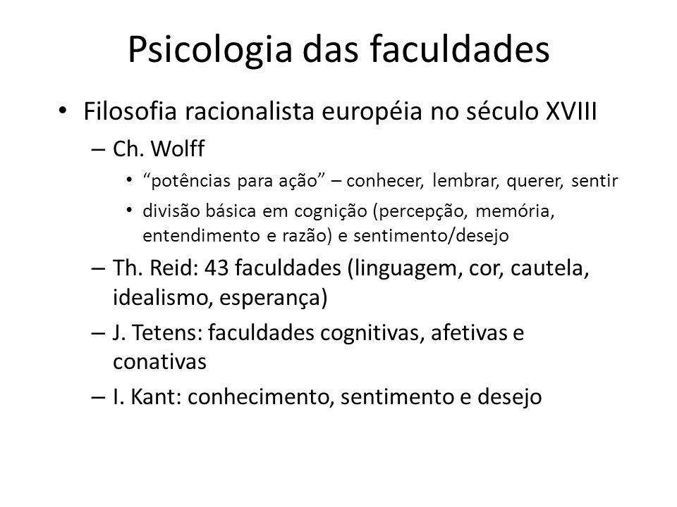 Psicologia das faculdades