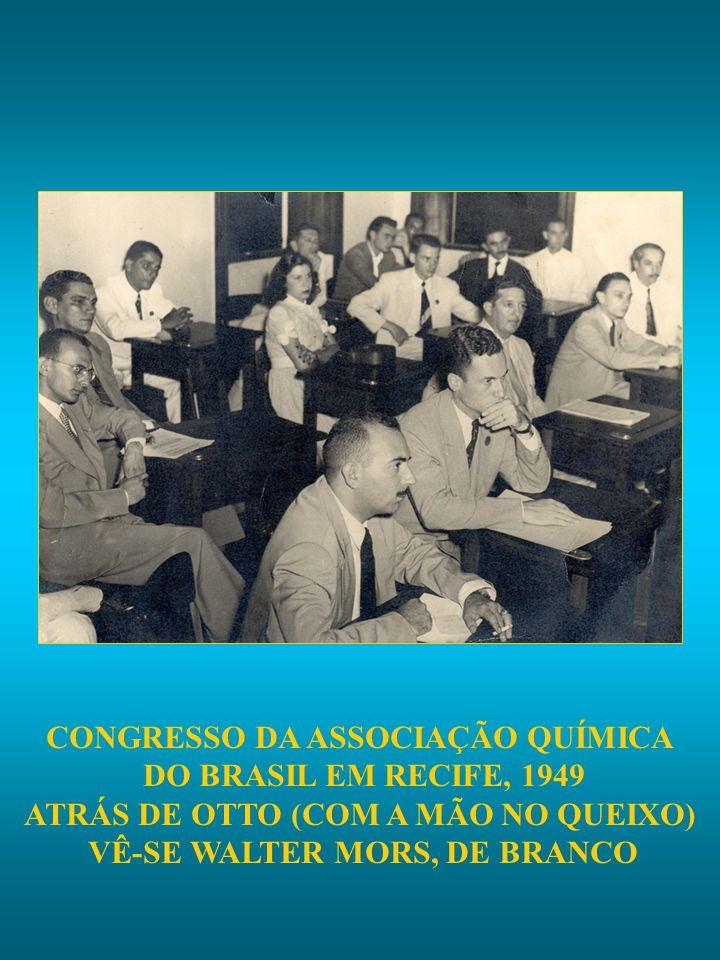 CONGRESSO DA ASSOCIAÇÃO QUÍMICA DO BRASIL EM RECIFE, 1949