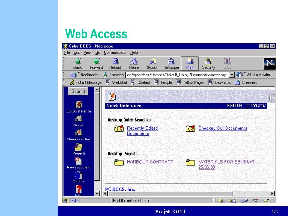 Web Access Projeto GED