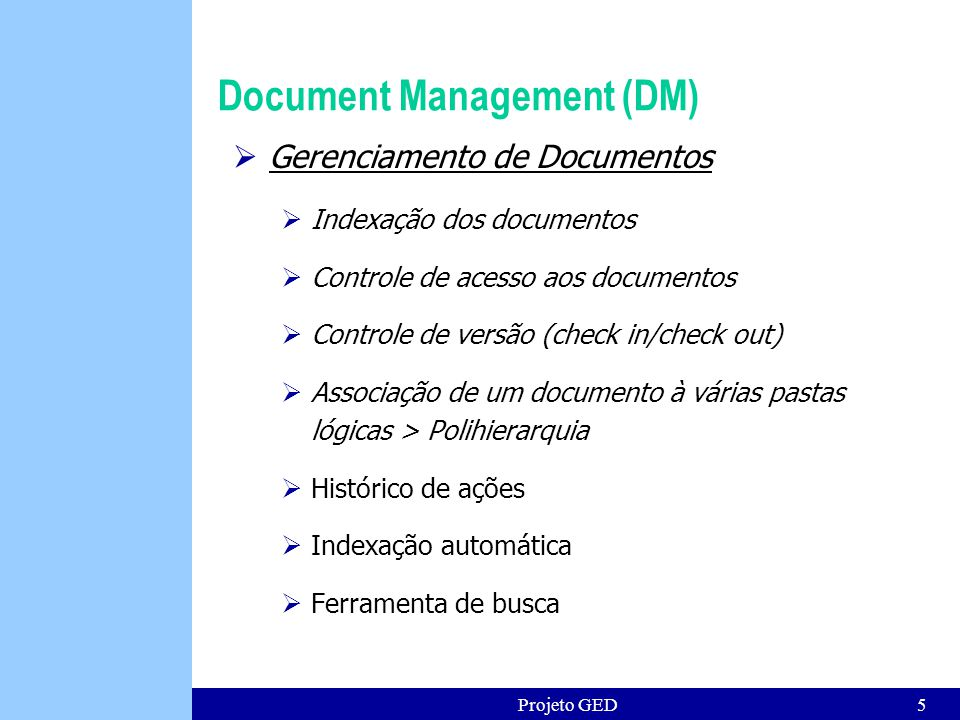 Document Management (DM)
