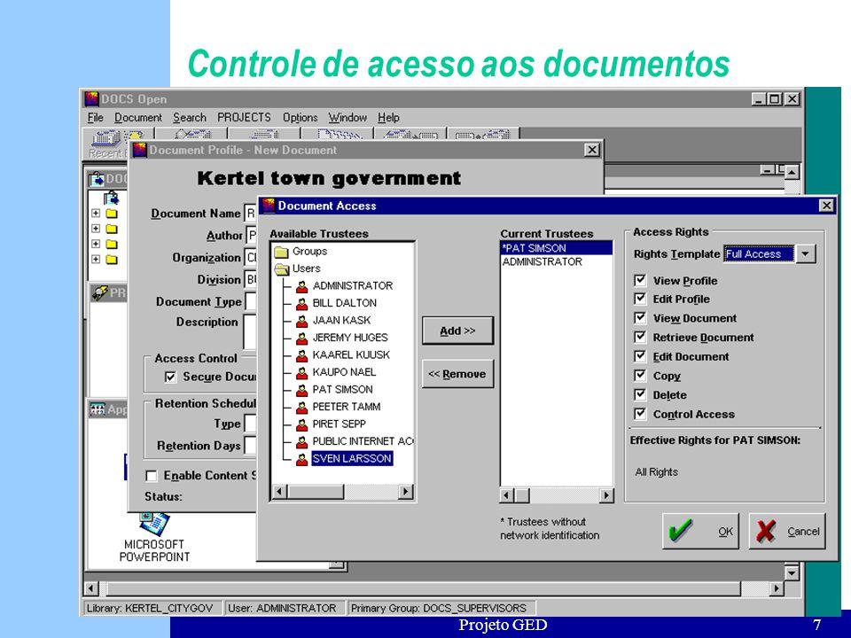 Controle de acesso aos documentos