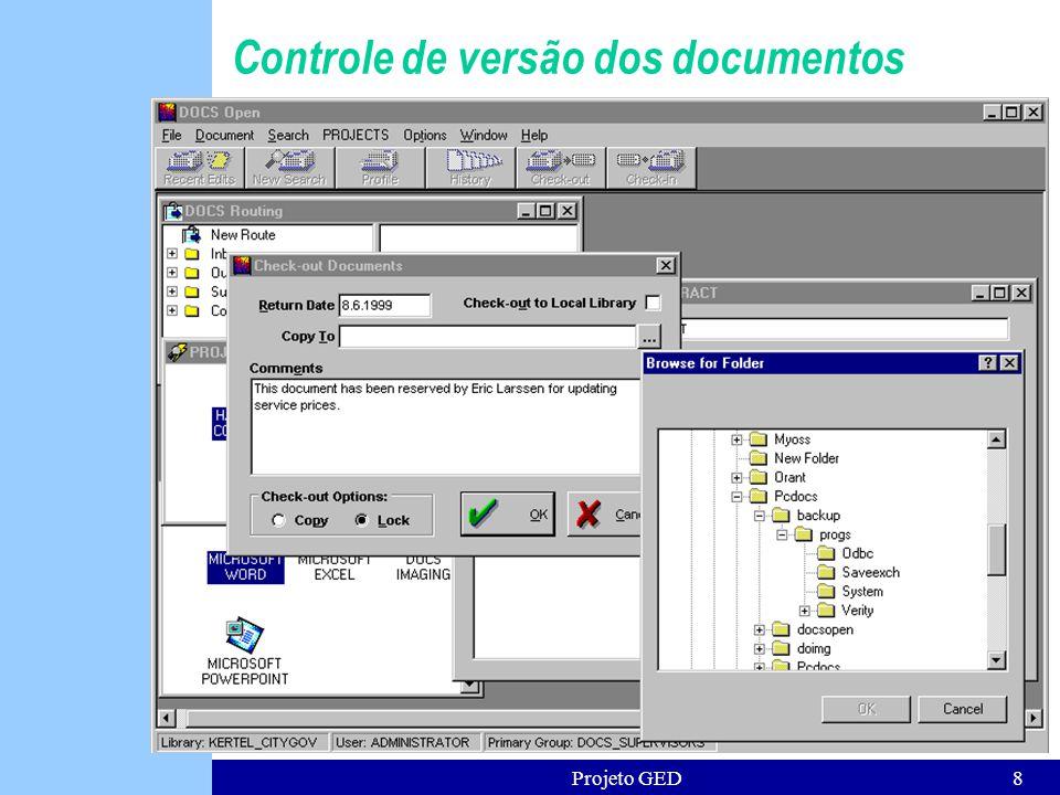Controle de versão dos documentos