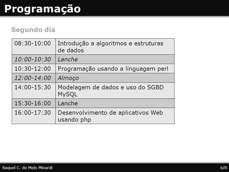 Programação Segundo dia 08:30-10:00