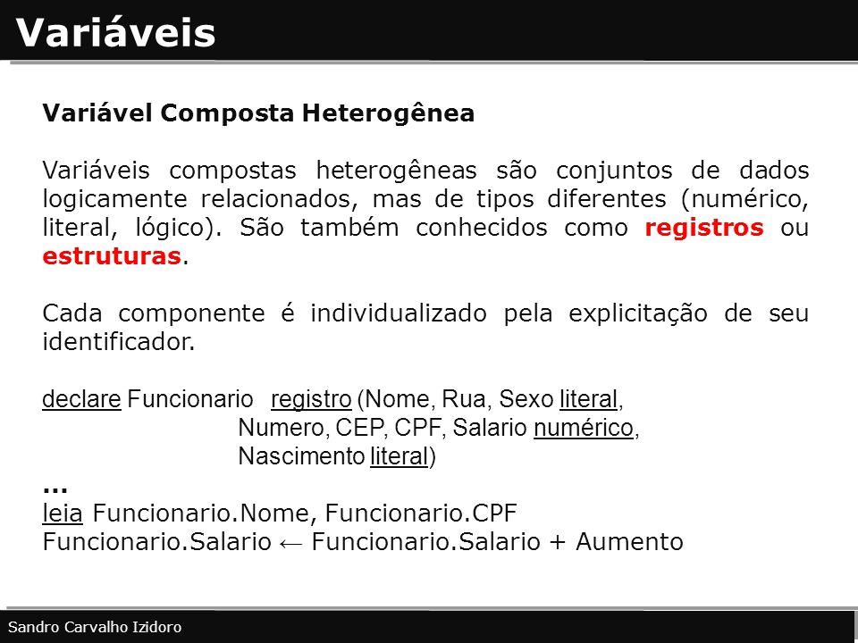 Variáveis Variável Composta Heterogênea
