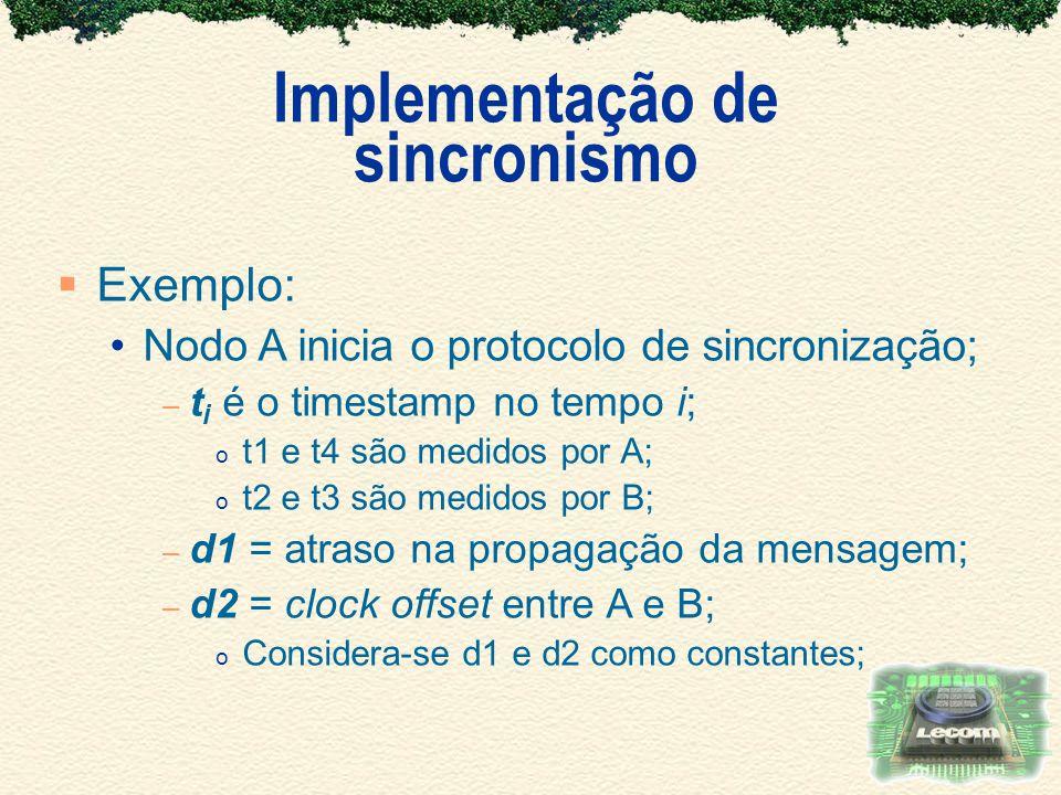 Implementação de sincronismo