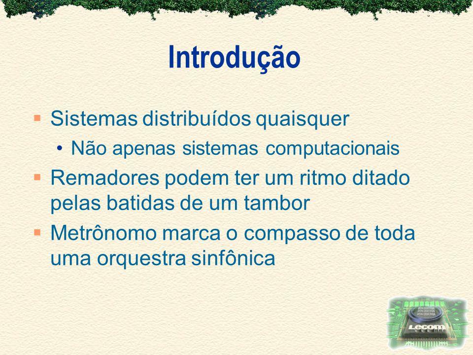 Introdução Sistemas distribuídos quaisquer
