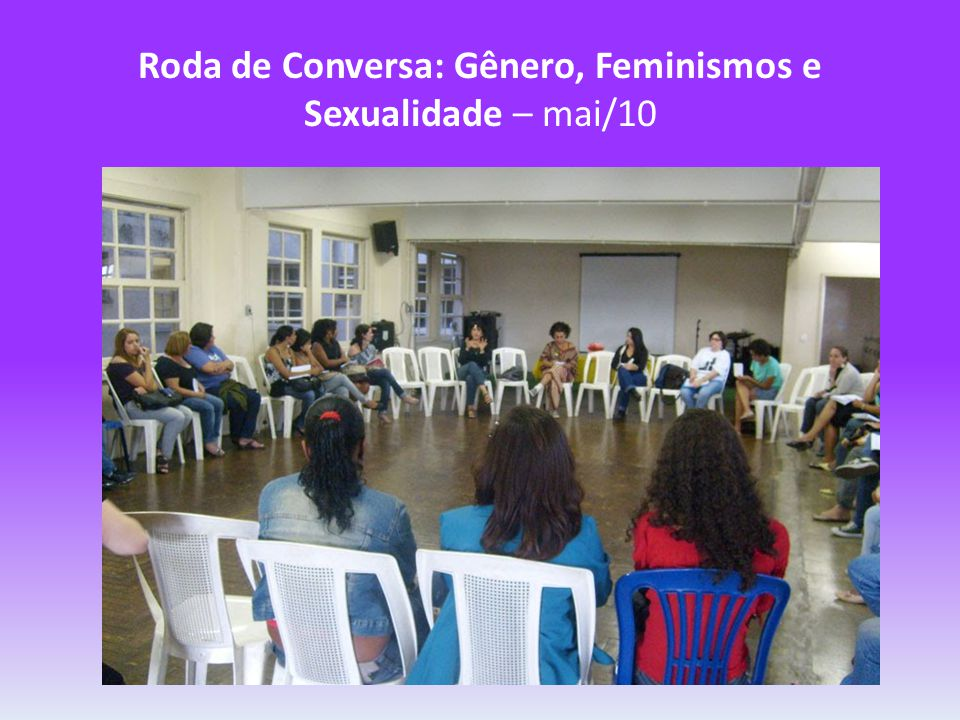 Roda de Conversa: Gênero, Feminismos e Sexualidade – mai/10