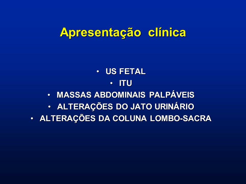 Apresentação clínica US FETAL ITU MASSAS ABDOMINAIS PALPÁVEIS
