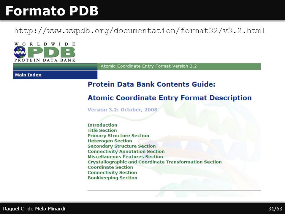 Formato PDB http://www.wwpdb.org/documentation/format32/v3.2.html