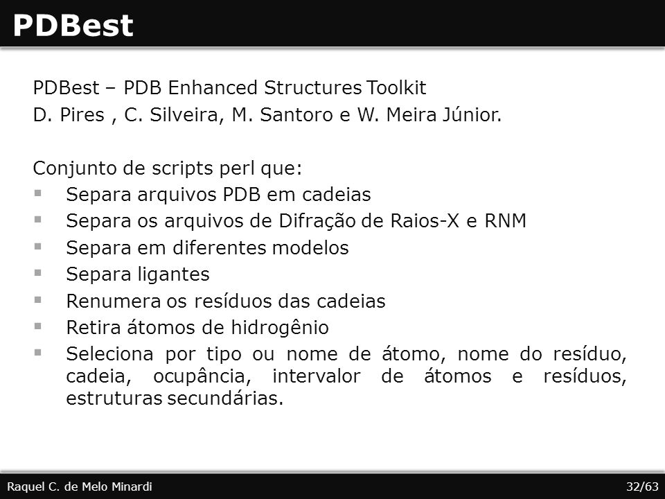 PDBest PDBest – PDB Enhanced Structures Toolkit