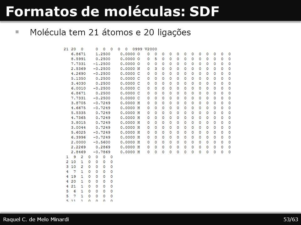 Formatos de moléculas: SDF