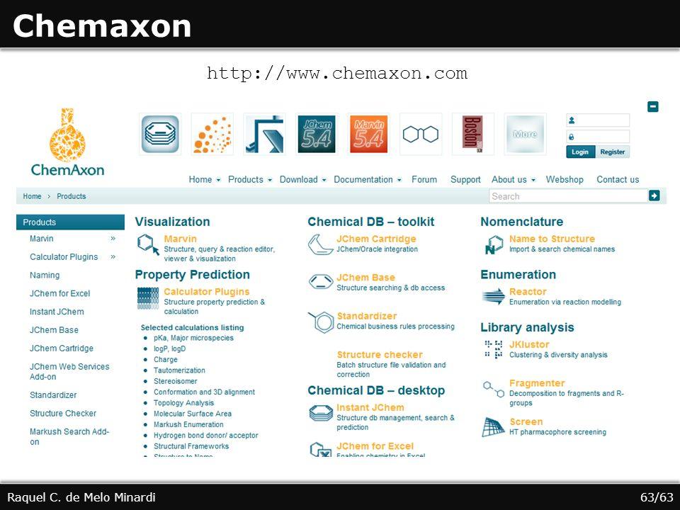 Chemaxon http://www.chemaxon.com Raquel C. de Melo Minardi 63/63