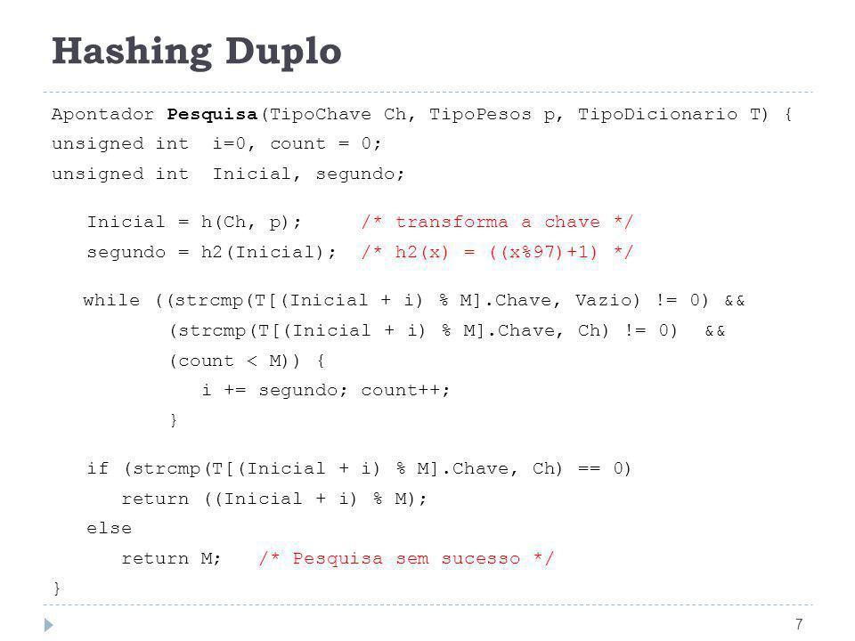 Hashing Duplo